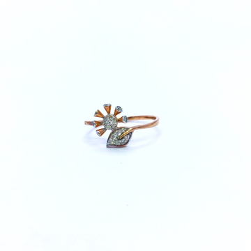 REAL DIAMOND FANCY ROSE GOLD FLOWER RING by
