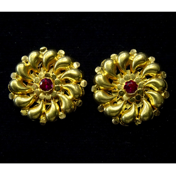 916 Gold Fancy Bharwadi Earring RJ-E01 by