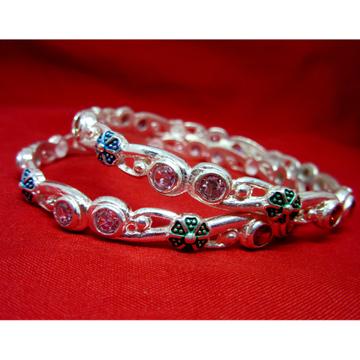 Silver 925 multi stone bangles sk925-6