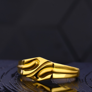 22KT Gold Hallmark Classic Gentlemen's Plain Ring  MR741