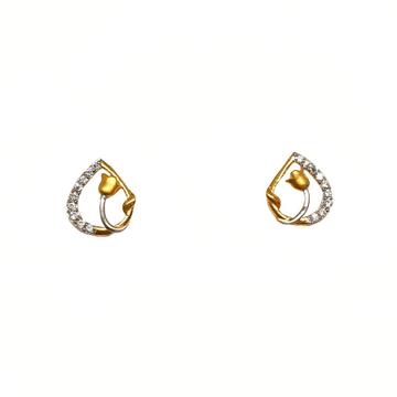 22K Gold Flower Shaped Modern Earrings MGA - BTG04...