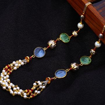22KT Gold Ladies Gorgeous Antique Chain Mala AC184