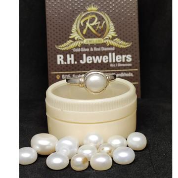 Silver moon stone ring rh-sr910
