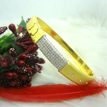 916 GOLD CZ DIAMOND GENTS KADA by