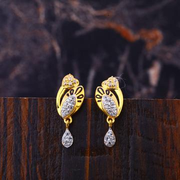 22KT Gold Women's Diamond Hallmark  Earring LFE315