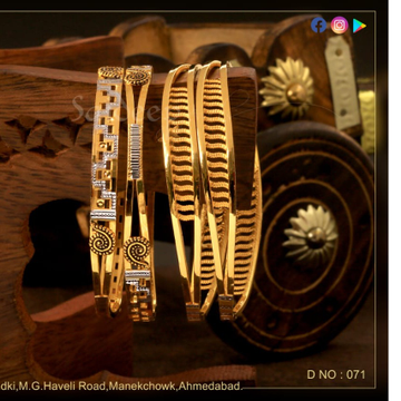 22KT Gold Exclusive Design Bangle   by Saideep Jewels
