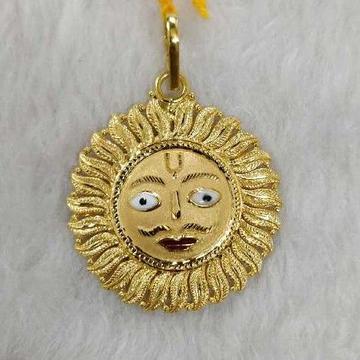 Gold Surya pendant