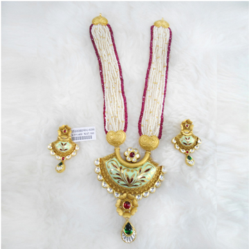 Gold Antique Jadtar Necklace Set RHJ 5290
