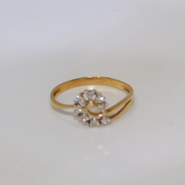 18K gold diamond ring agj-lr-142