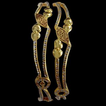 916 Gold Designer Bangle SG-51 by
