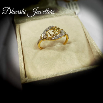 22K Gold Omkar Ring by