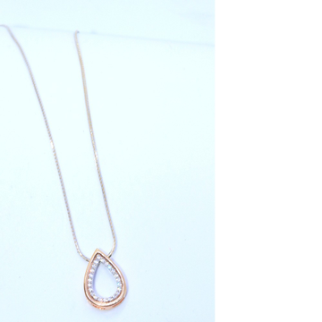 18KT Rose Gold Delicate Special Valentine day chain With Pendant For Ladies CHG0337