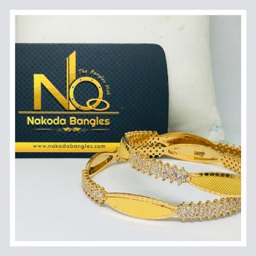 916 Gold CNC Bangles NB - 715