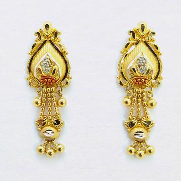 916 Gold Classic latkan Earring SK-E22 by