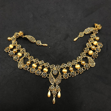 22K Gold Trendy Turkish Necklace Set by