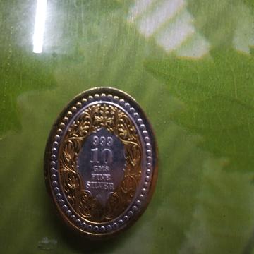 two(2) tons silver gold Ganga jamna coin(sikka) 01