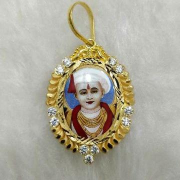 22KT Gold Suketu Bhagvan Photo Pendant