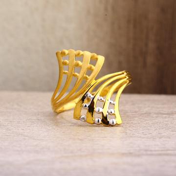 916 Gold  Women's Stylish Plain Ring LPR80