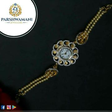 Gold Pearl Designer Ladies Watch 22kt