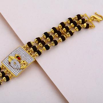 Mens Rudraksha Gold 22K Bracelet-MRB13
