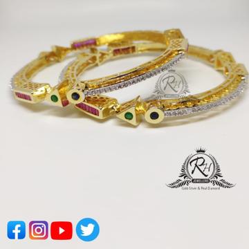 22 carat gold daimond ladies bangles RH-LB400