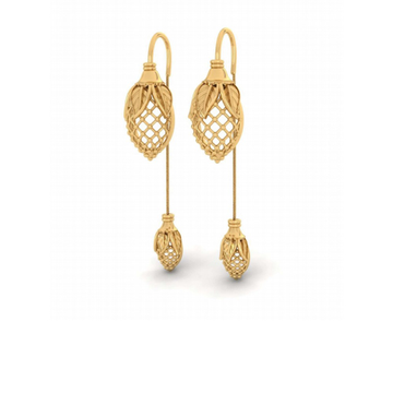 916 gold attractive earring for women pj-e004