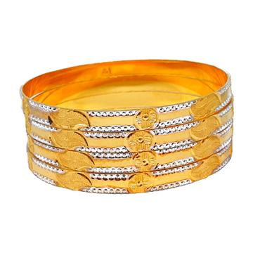 One Gram Gold Forming Modern Bangles MGA - BGE0451