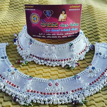 rajwadi silver wedding payal by Shree Kesar Gold Palace