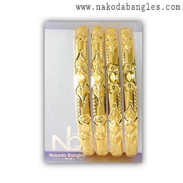 916 Gold Patra Bangles NB - 1381