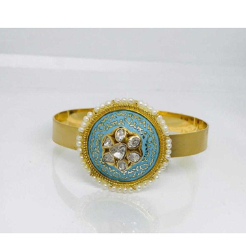 18k Ladies Fancy Gold Kada K-51042