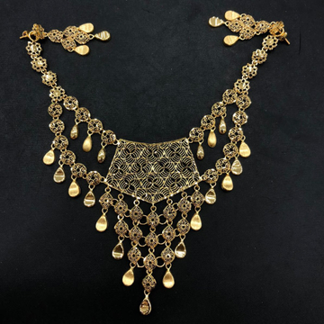 22KT Gold Fancy Turkish Necklace Set by