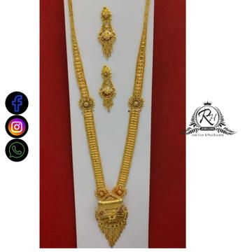 22 carat gold ladies long set RH-NS593