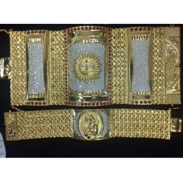 916 gold rajwadi gents bracelet.
