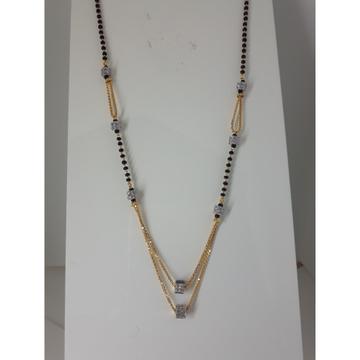 916 Gold CZ Light Weight Mangalsutra IO-029