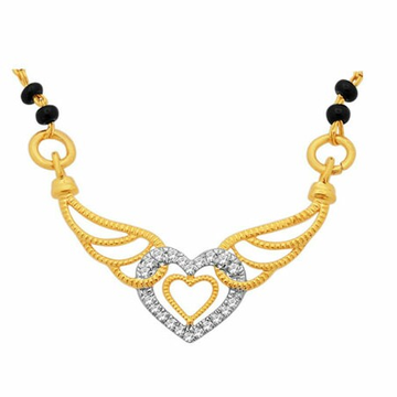 18K Gold Real Diamond Mangalsutra MGA - RMS005