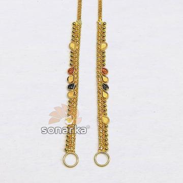 Light weight gold earchain kanser sk - k025 by