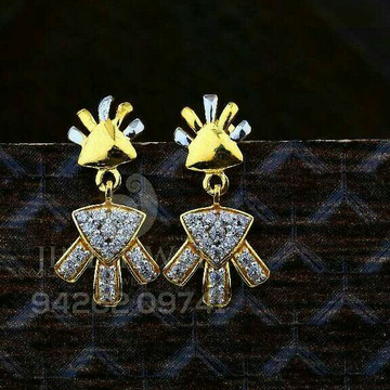 18kt Crafted Cz Gold Ladies Tops ATG -0652