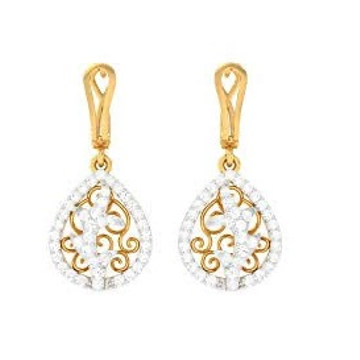 22kt, 916hm, Fancy earring With Royal design witj diamond Jke114.