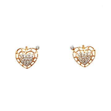 18K Rose Gold Heart Shape Earrings MGA - BTG0175