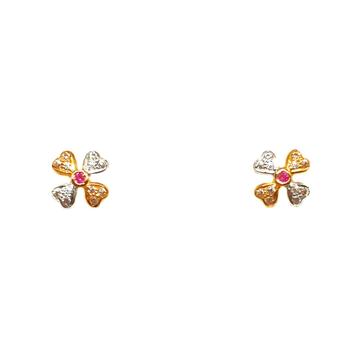 22K Gold Heart Shape Baccha Earrings MGA - BTG0283