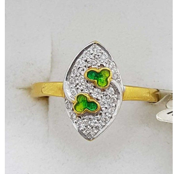 916 Gold green mina Ladies Ring SJ-LR/57