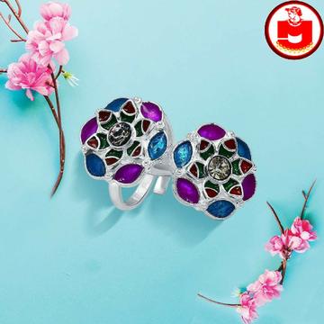 Silver Minakari toe rings (ferva - vichiya)