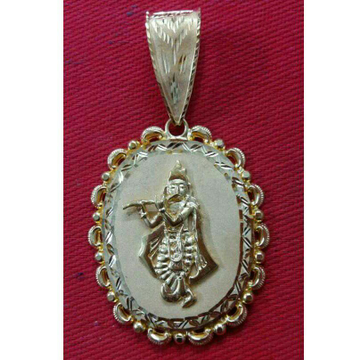 22K / 916 Gold Gents Yellow Krishna Pendant