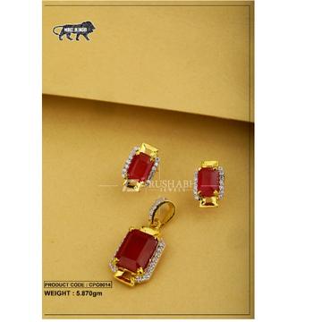22 carat 916 gold ladies colour stone pendent set cpg0014