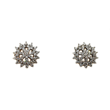 22K Gold Round Shape CZ Diamond Earrings MGA - BTG0349