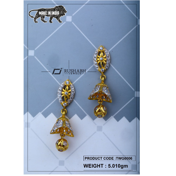 18 carat Gold ladies zummer tops  long earrings tw... by