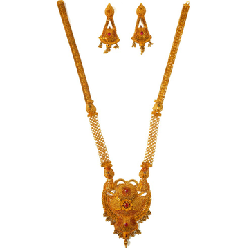 1 gram gold forming necklace set mga - gfn0033
