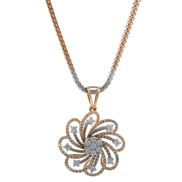 Windmill Inspired diamond pendant in 18k Rose gold 9SHP53