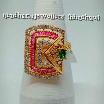 916 Gold Multicolor Stones Ladies Ring