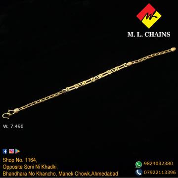 22K Gold Classic Bracelet ML-B06